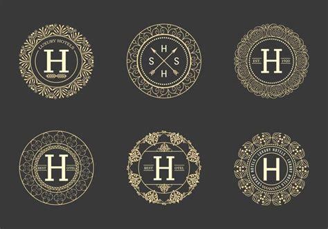 retro hotel logos vector   vectors clipart