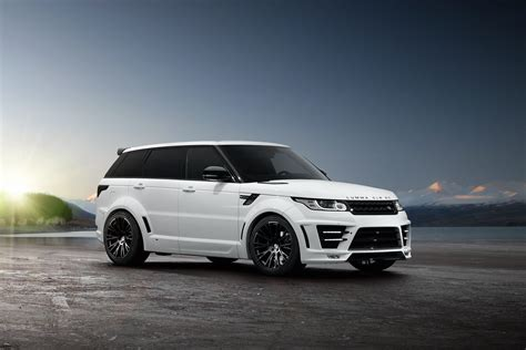 white range rover sport white and black lumma design clr rs range rover sport