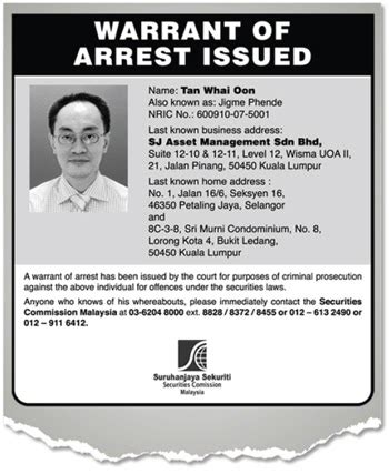 how long do bench warrants last corporate governance in malaysia warrant of arrest for