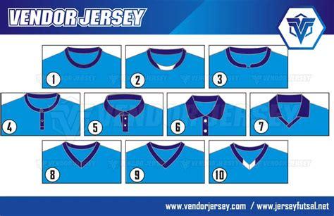 gambar desain nomer star desain kerah lubang leher pembuatan baju futsal vendor
