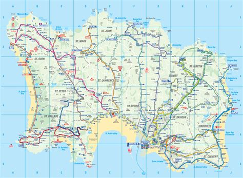 0004490363 carte touristique jersey en infos sur ile de jersey carte arts et voyages