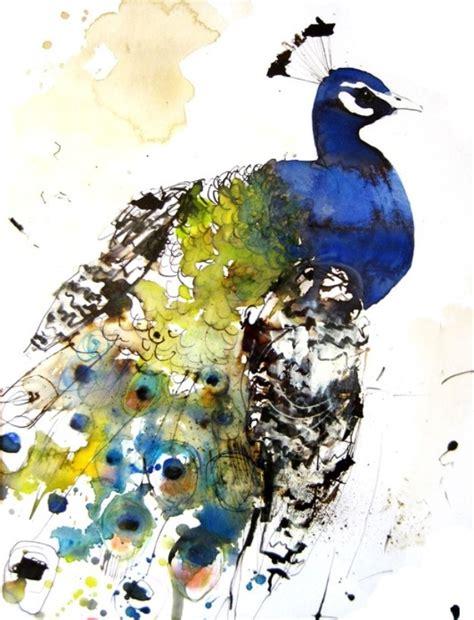 watercolor peacock tattoo watercolor peacock inspiration