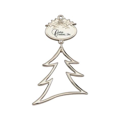 personalized christmas tree ornaments silver tree