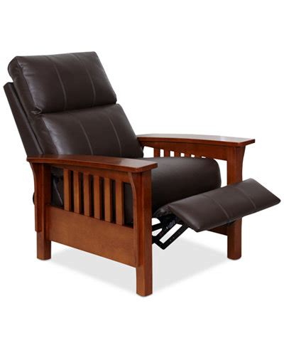 Harrison Leather Recliner harrison leather pushback recliner furniture macy s