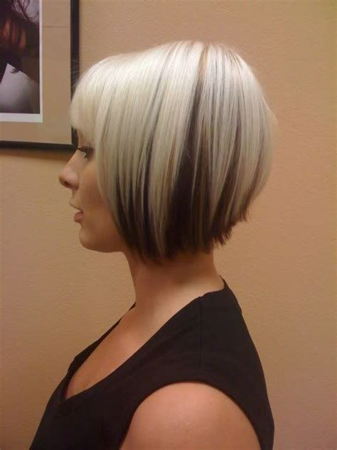 medium hair styles with blond in front color blonde bob with dark underneath hair pinterest