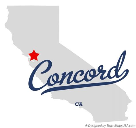 Concord Ca by Map Of Concord Ca California