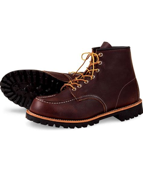 wing boot wing roughneck heritage moc toe boot model 8146