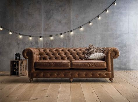 distressed chesterfield sofa reclaimed vintage distressed