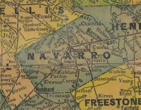 navarro texas map navarro county texas
