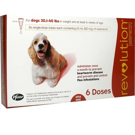 revolution for dogs 21 40 lbs revolution for dogs 20 1 40 lbs 6 doses