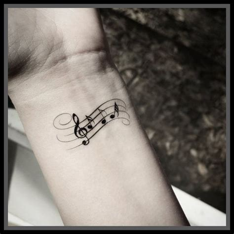 music note wrist tattoos best 25 note tattoos ideas on
