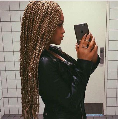 honey blonde and black boxbraids stunningly cute ghana braids styles for 2017 blonde