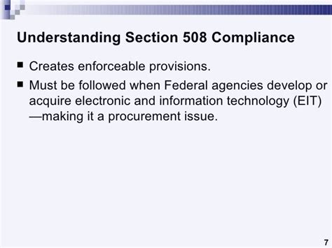Section 508 Standards by Understanding Section 508