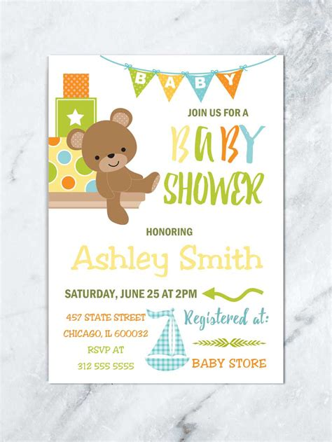 Baby Shower Bears by Baby Shower Invitation Boy Baby Shower Baby
