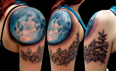 moon and sun tattoos for women on shoulder 187 tattoo ideas