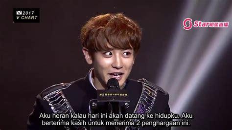 exo indo sub indo sub 170408 exo chanyeol won most popular artist v