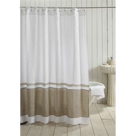 natural shower curtain orfeo linen shower curtain white natural