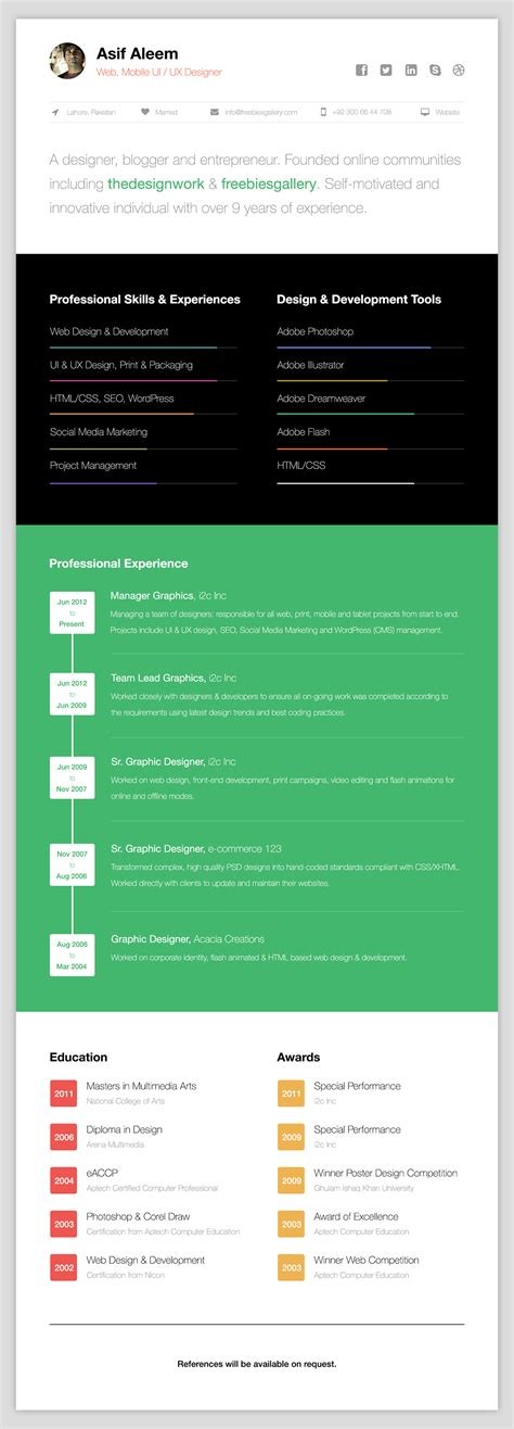 resume a personal category flat bootstrap responsive web template