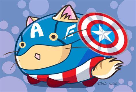 captain america chibi wallpaper captain america chibi kitty by albels wish on deviantart