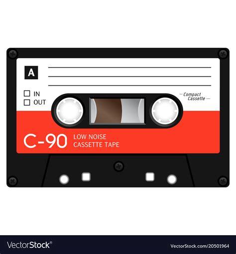 vintage cassette vintage audio cassette design royalty free vector image