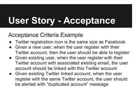 acceptance criteria template user story acceptance acceptance criteria exle