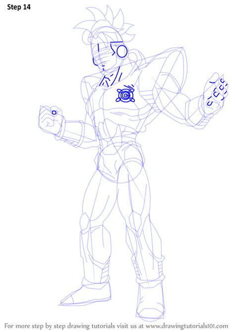 tutorial line art android step by step how to draw android 16 from dragon ball z