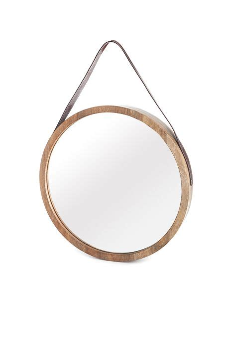 target round mirror beaver canoe for target round mirror with leather strap