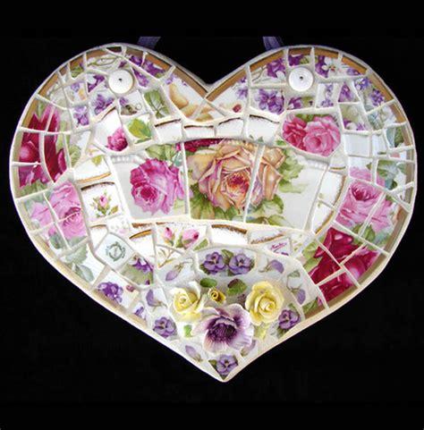 broken china mosaic heart flickr photo sharing