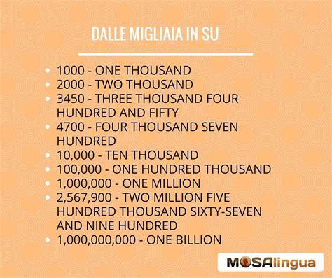 lettere di inglese numeri in inglese come contare da 1 a 1 miliardo