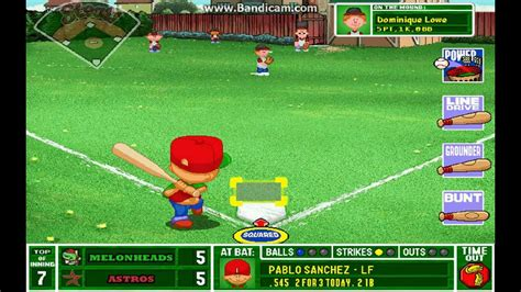 pablo sanchez backyard sports pablo sanchez walk off hr youtube
