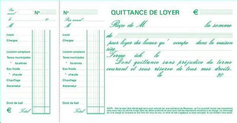 modele quittance loyer avec caf document