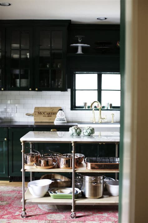 kitchen island table on wheels a curated look houston home simplified bee
