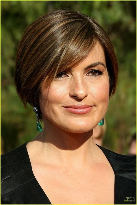 hairstyles for round faces images mariska hargitay short haircut hairstyles for round faces