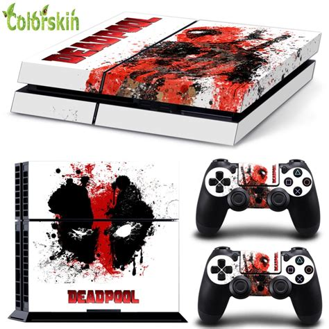 Kaos Gadget Playstation 4 Design Dead Pool Design Sticker For Playstation 4 For Ps4 Skin