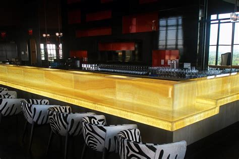 lighted bar tops backlit honey onyx bar hotel lighting feature w hotel