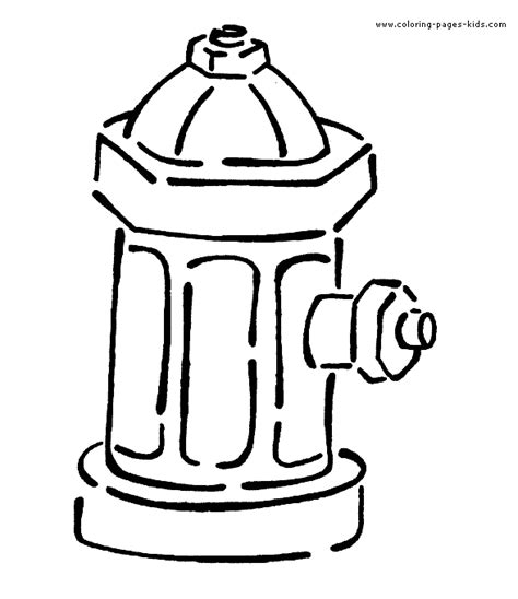Fire Hydrant Coloring Page Fablesfromthefriends Com Hydrant Coloring Pages