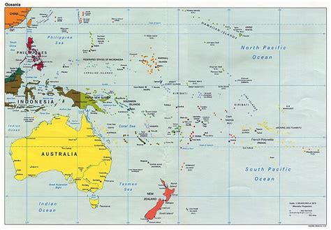 political map of australia with capitals large political map of australia and oceania with capitals