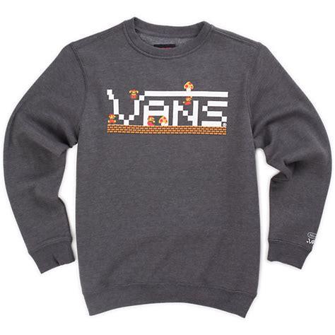 Sweater Vans boys nintendo mario crew sweatshirt shop at vans