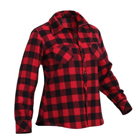pattern red winter clothes womens ladies red plaid checker pattern long sleeve winter