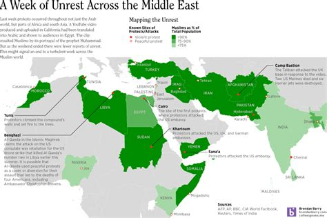 middle east unrest map a week of unrest across the middle east coffee spoons