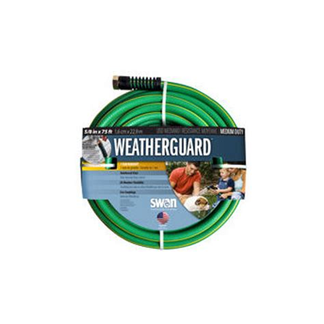 Swan Garden Hose by Swan Weatherguard 5 8 In X 75 Ft Garden Hose