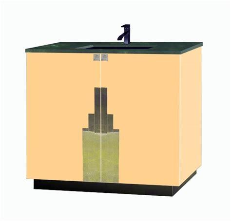 Deco Bathroom Vanity Unit by New Deco Lacquered Bathroom 2 Door Vanity Unit With