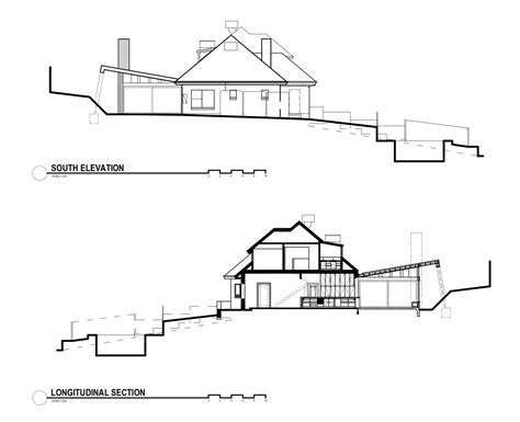 section and elevation gallery of kew house nic owen architects 17