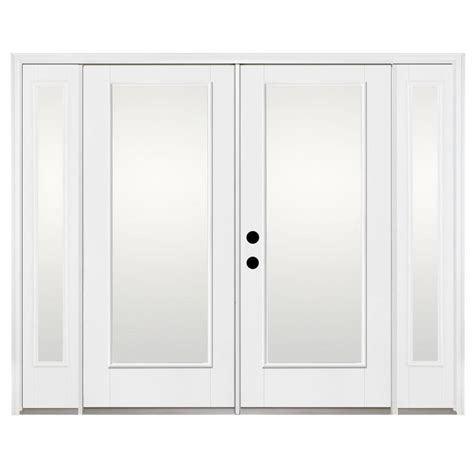 Fiberglass Patio Doors Shop Benchmark By Therma Tru 93 93 In 1 Lite Glass Fiberglass Inswing Patio Door At Lowes