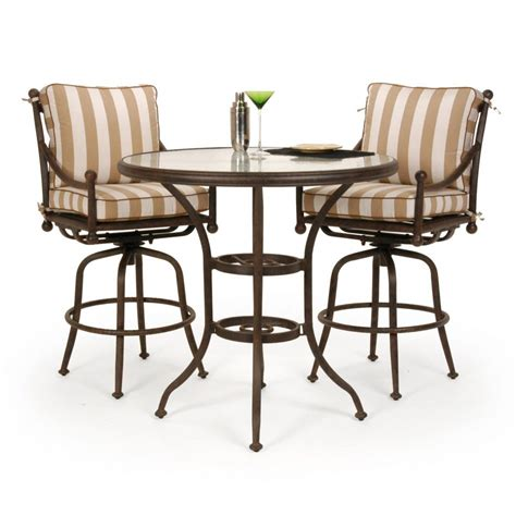 Furniture: Delightful Patio Bar Height Table And Chairs