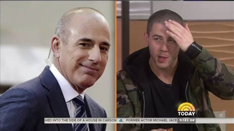 how long is matt lauers hair i do this to my hair nick jonas being compared to matt