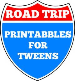printable road trip games for tweens road trip printables for tweens road trips cars and