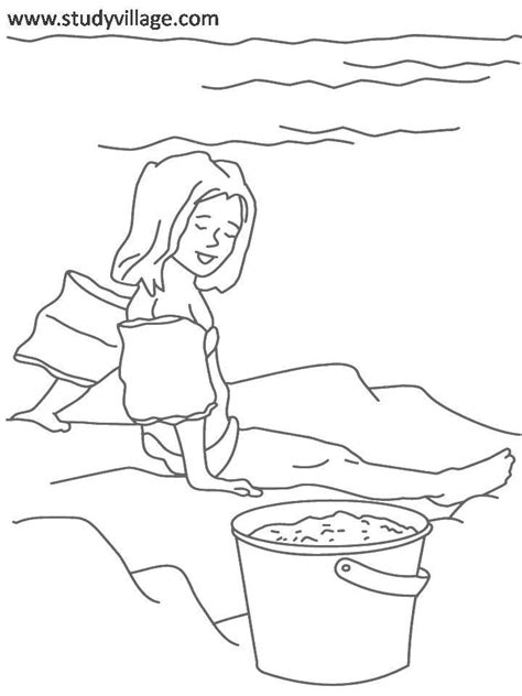 summer clothes free colouring pages