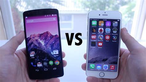 iphone 6 vs nexus 5 comparison
