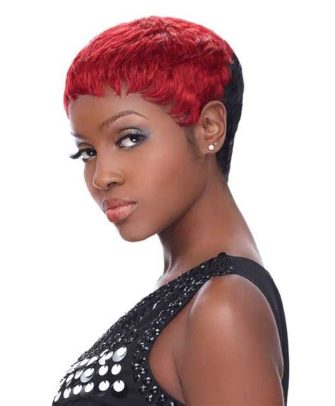hairstyle fohawk with bump hairpiece pixie wig by bump wig collection short wigs for black